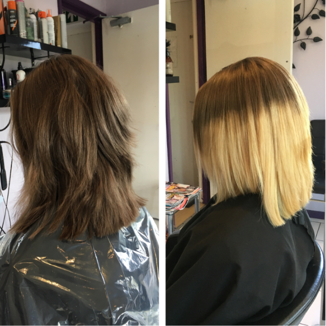Before And After Colour And Style Photos Oasis Hair Nantwich