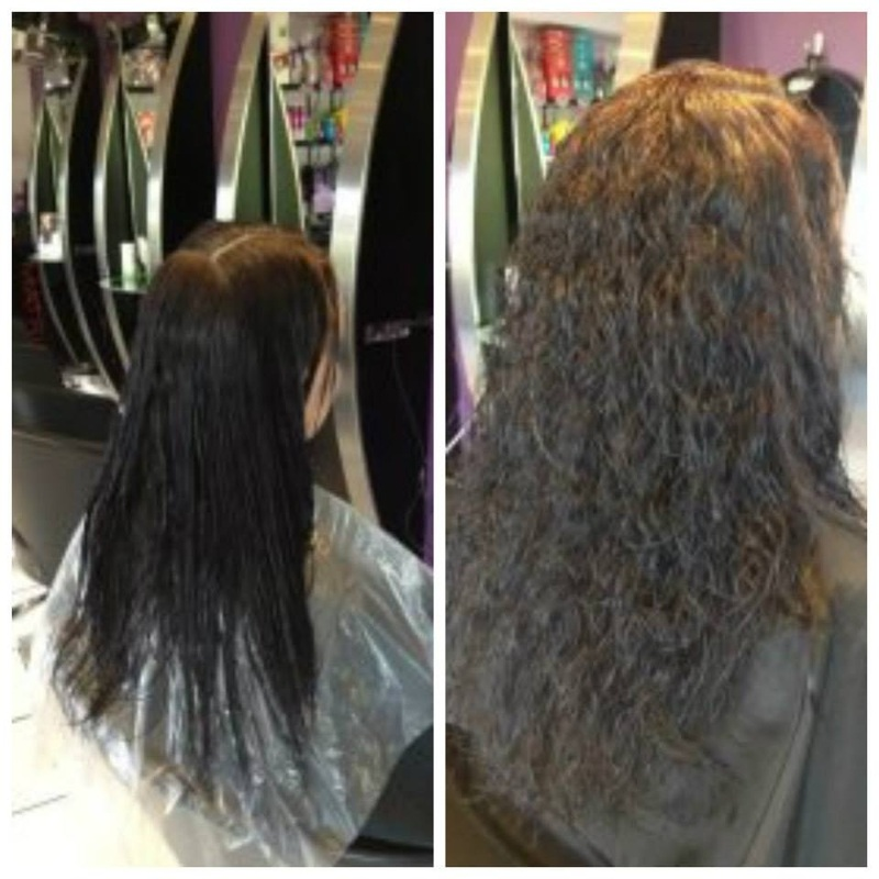 Photos Of Stright Hair That Has Been Permed Before And