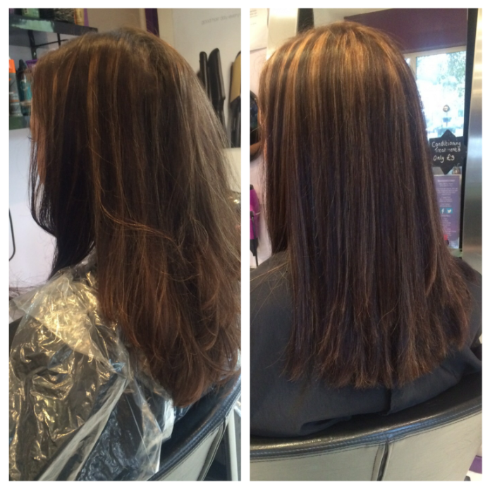 Before and After Colour and Style Photos - Oasis Hair Nantwich