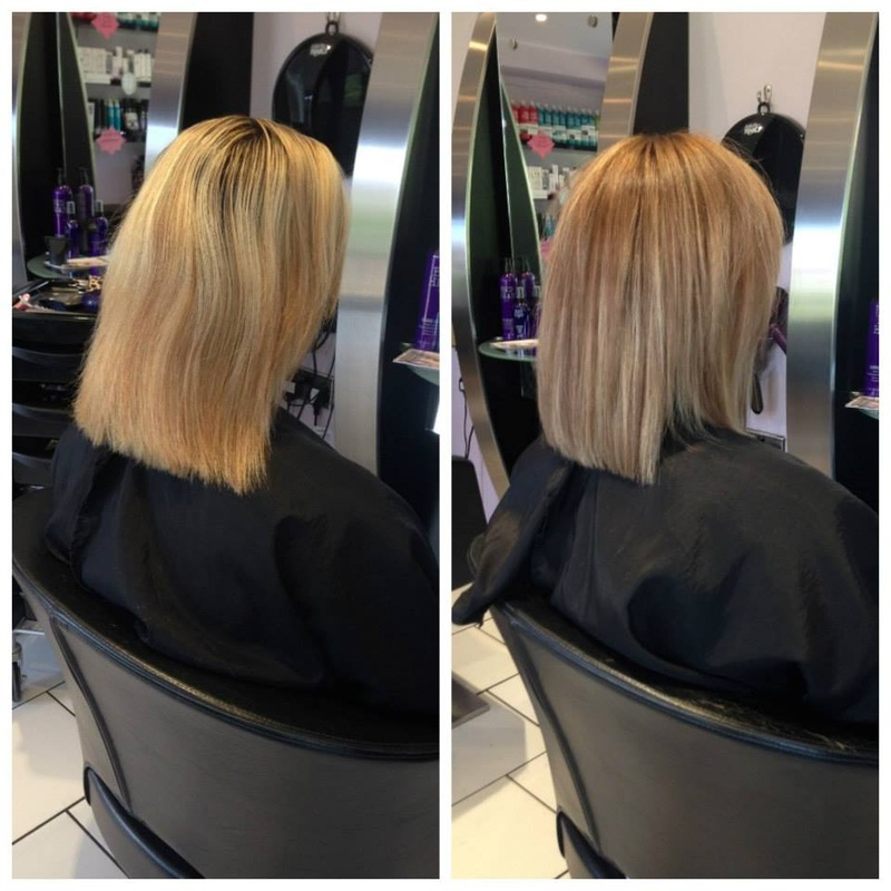 Before and after colour and style photos oasis hair nantwich before blonde highlightster darker highlights pmusecretfo Image collections